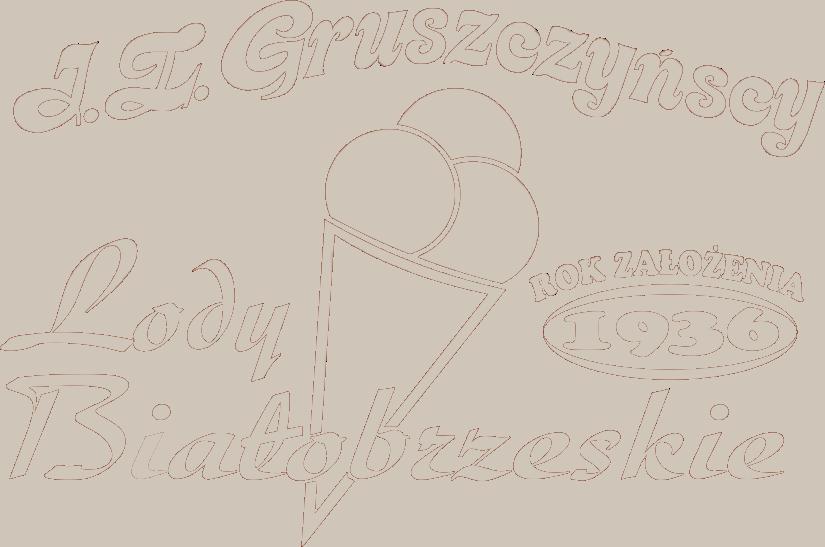 Naturalne Lody Białobrzeskie J.Z. Gruszczyńscy 1936 Logo